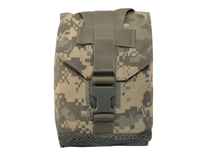 Military Surplus MOLLE II Utility Pouch with Mesh Bottom Grade 1 ACU Camo