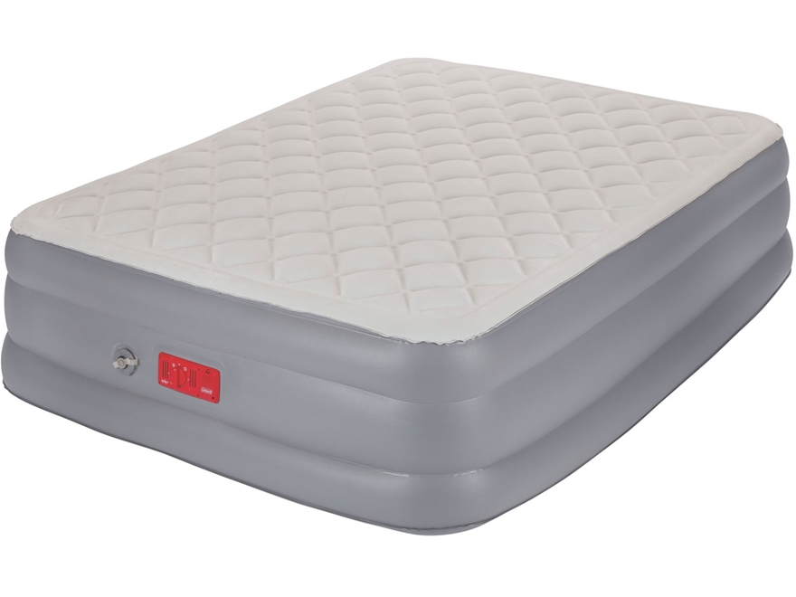 Coleman SupportRest Elite Pillow Top Double High Air Mattress Queen PVC Gray and White