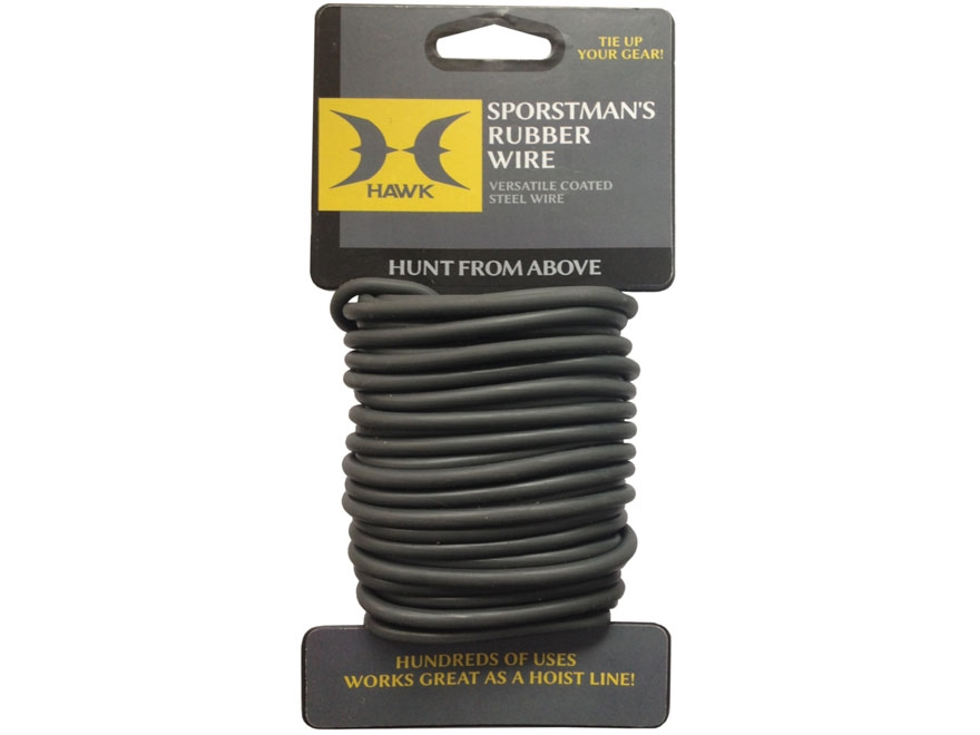 Hawk Sportsman's Rubber Coated Steel Wire Black