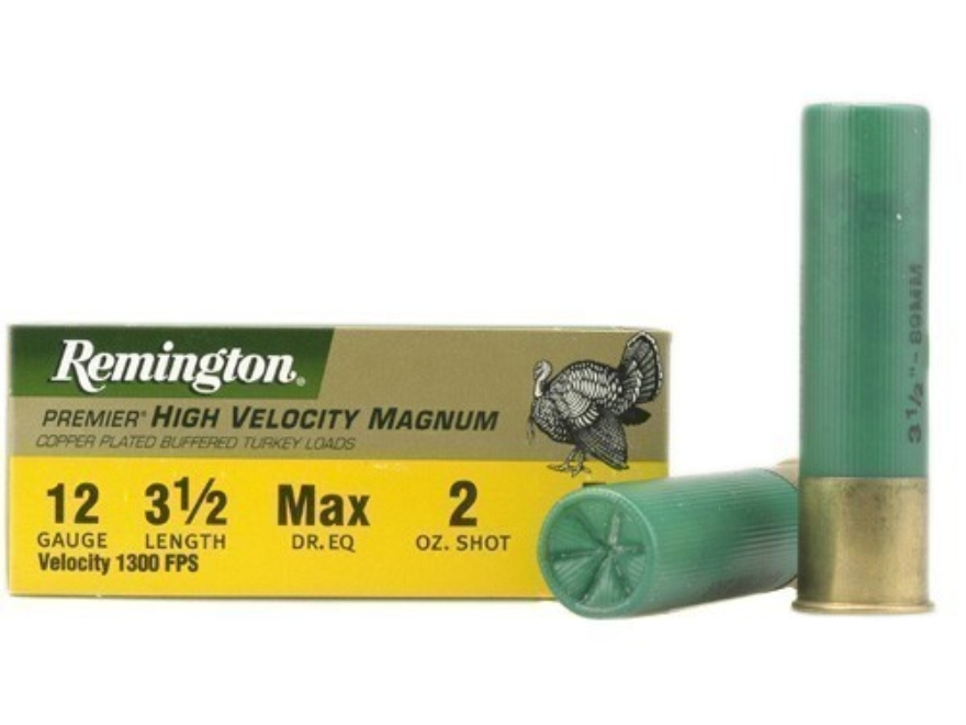 "Remington Premier Magnum Turkey Ammunition 12 Gauge 3-1/2"" High Velocity 2 oz #5 Copper..."