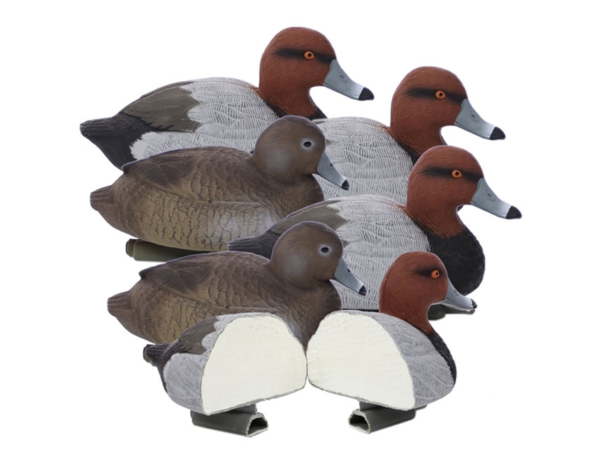 Higdon Standard Foam Filled Red Head Duck Decoy Polymer Pack of 6