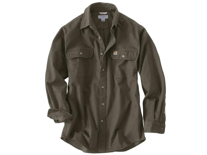 Carhartt men 39 s oakman work shirt long sleeve cotton for Carhartt men s long sleeve lightweight cotton shirt