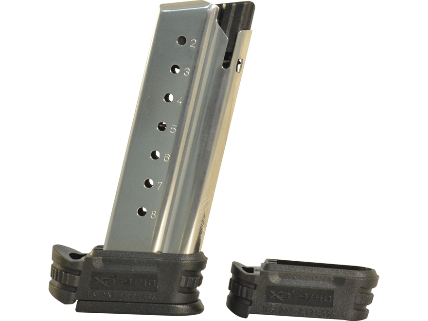 Springfield Armory Magazine Springfield XD-S 9mm Luger with Backstrap 1 and 2 Stainless...
