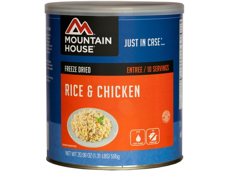 Mountain House 10 Serving Rice and Chicken Freeze Dried Food #10 Can