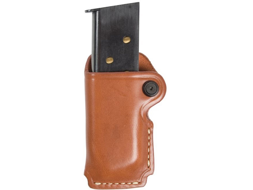 BLACKHAWK! Single Magazine Pouch Double Stack 9mm, 40 S&W Leather