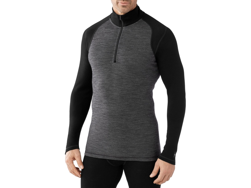 Smartwool Men's NTS Mid 250 Pattern 1/4 Zip Base Layer Shirt Shirt Long Sleeve Merino Wool