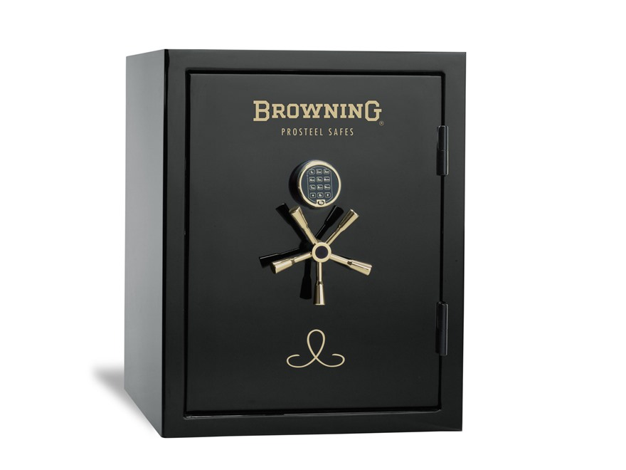 Browning Compact Fire-Resistant Safe with Electronic Lock Gloss Black and Gold