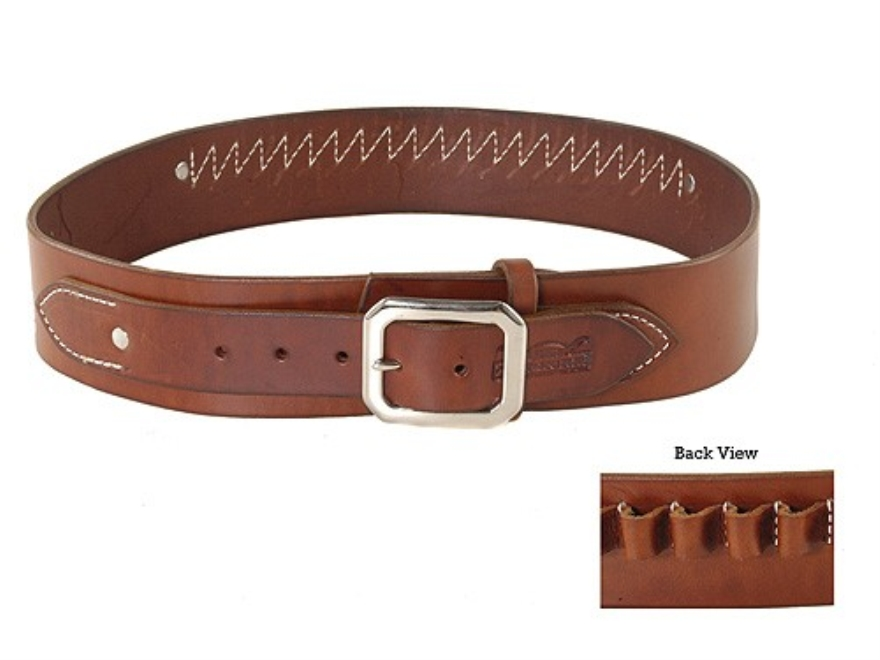 Van Horn Leather Ranger Cartridge Belt 45 Caliber Large Leather Chestnut