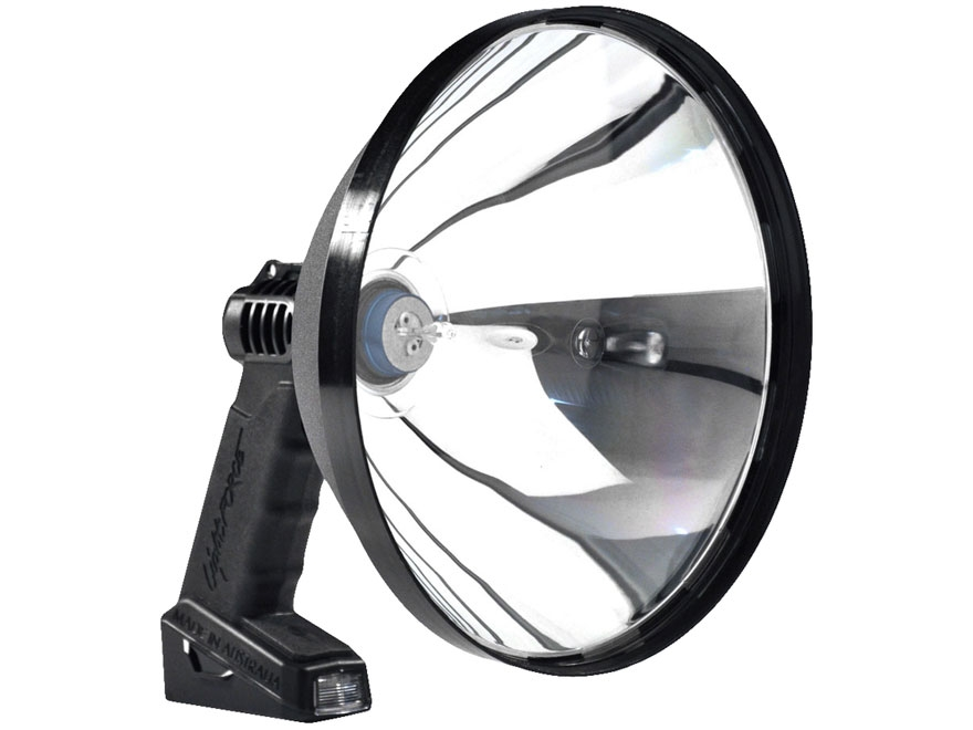 Lightforce Enforcer 240 Halogen Handheld Spotlight 12V Plug-In and Alligator Clip Polym...