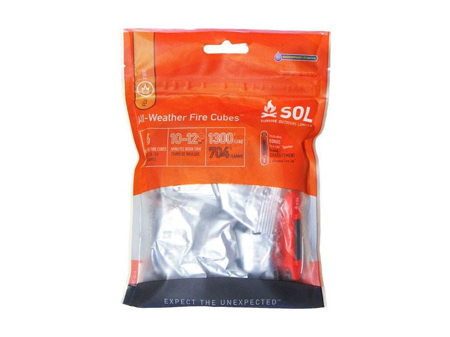 Adventure Medical Kits SOL All-Weather Fire Cubes Fire Starter Pack of 6