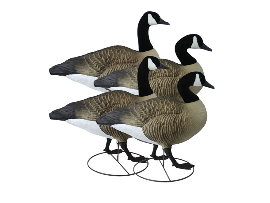 Higdon GIANT TruWalker Full Body Canada Goose Decoy Polymer Pack of 4