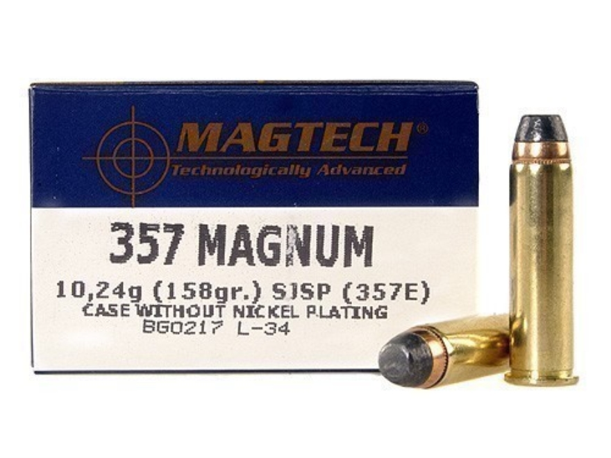 Magtech Sport Ammunition 357 Magnum 158 Grain Semi-Jacketed Soft Point