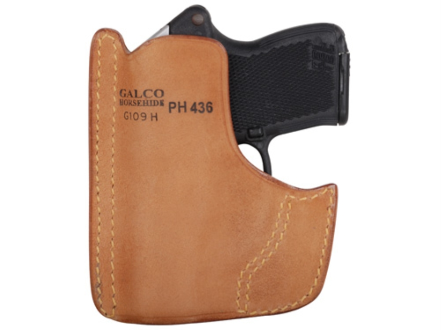 Galco Front Pocket Holster Ambidextrous Kel-Tec P32, P3AT, Ruger LCP Horsehide Leather Tan