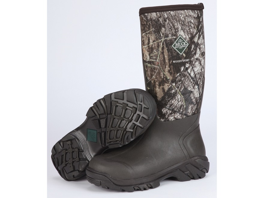 """Muck Woody Sport 16"""" Waterproof Insulated Hunting Boots Rubber and Nylon Mossy Oak Brea..."""