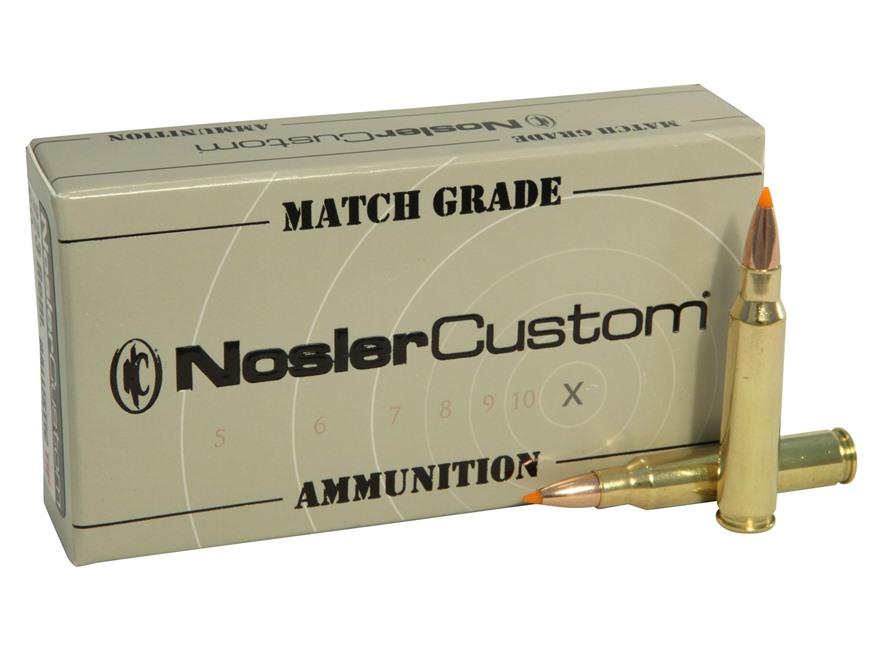 Nosler Match Grade Ammunition 223 Remington 60 Grain Ballistic Tip Box of 20