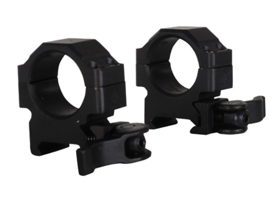 """Leapers UTG 1"""" Max Strength Tactical 4-Hole Quick Detachable Picatinny-Style Rings Matte"""