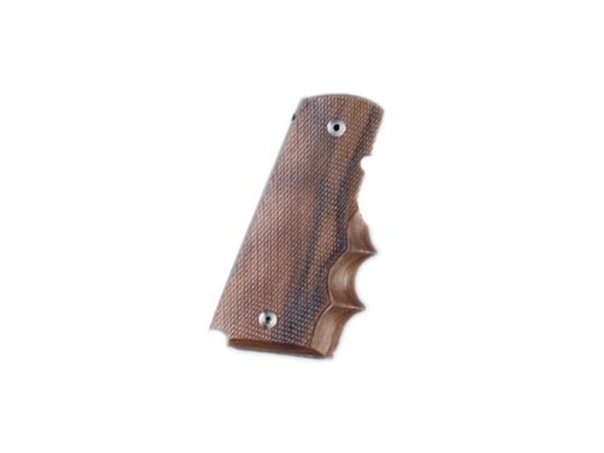 Hogue Fancy Hardwood Grips with Finger Grooves 1911 Government, Commander with Extended...