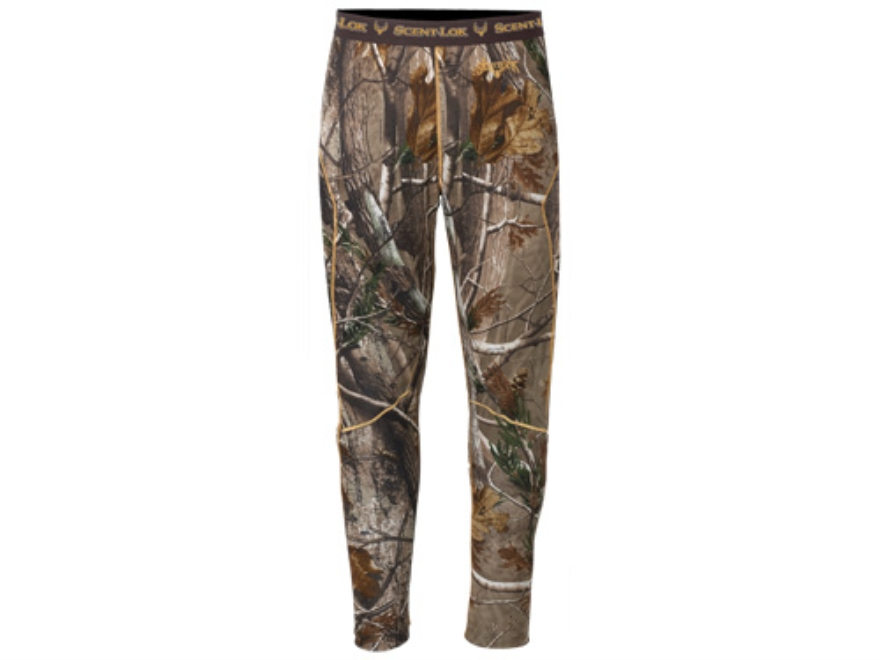 Scent-Lok Men's BaseSlayers Midweight Pants Polyester Realtree AP Camo Medium 32-34 Wai...