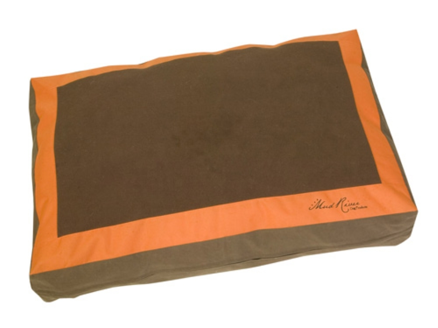 "Mud River Homebase Dog Bed Large 43"" x 30"" x 6"" Nylon and Waxed Canvas Brown and Blaze ..."
