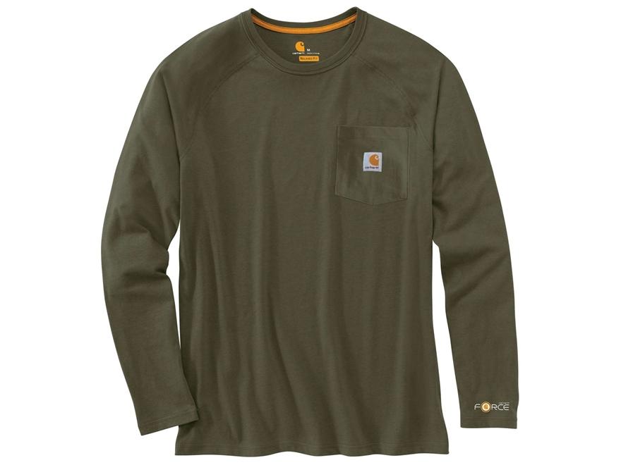 Carhartt Men 39 S Force Delmont T Shirt Long Sleeve Cotton