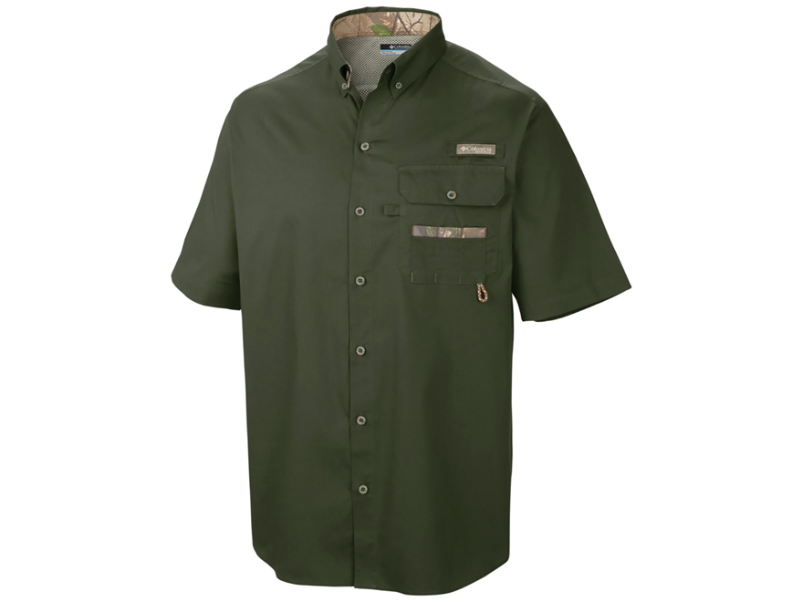 Columbia Men's Sharptail Button-Up Shirt Short Sleeve Cotton