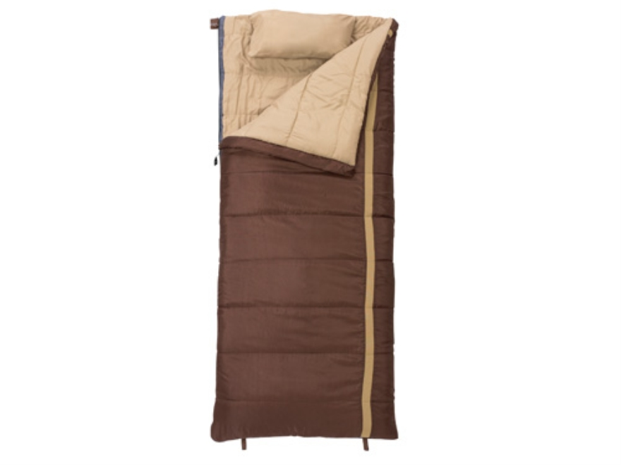 "Slumberjack Timberjack 0 Degree Sleeping Bag 34"" x 80"" Polyester Brown"