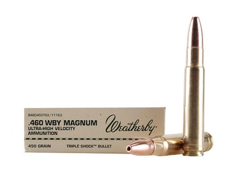 Weatherby Ammunition 460 Weatherby Magnum 450 Grain Barnes Triple-Shock X Bullet Hollow...