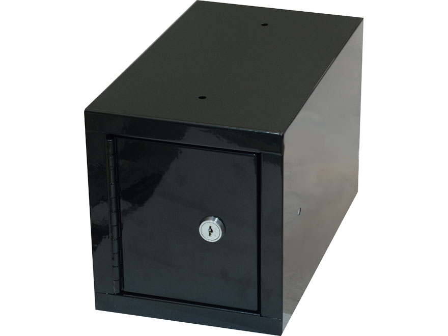 Stack-On Steel Security Box with Key Lock Black
