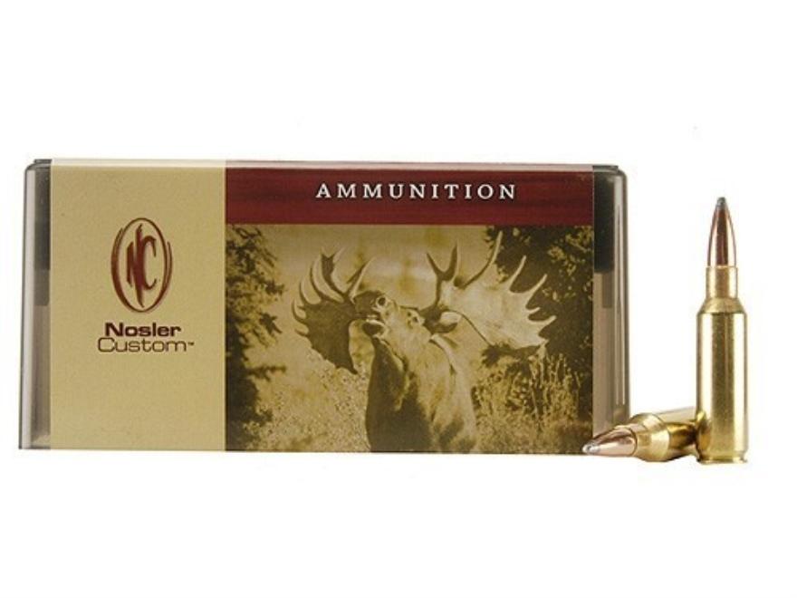 Nosler Custom Ammunition 300 Remington Short Action Ultra Magnum 180 Grain Partition Sp...