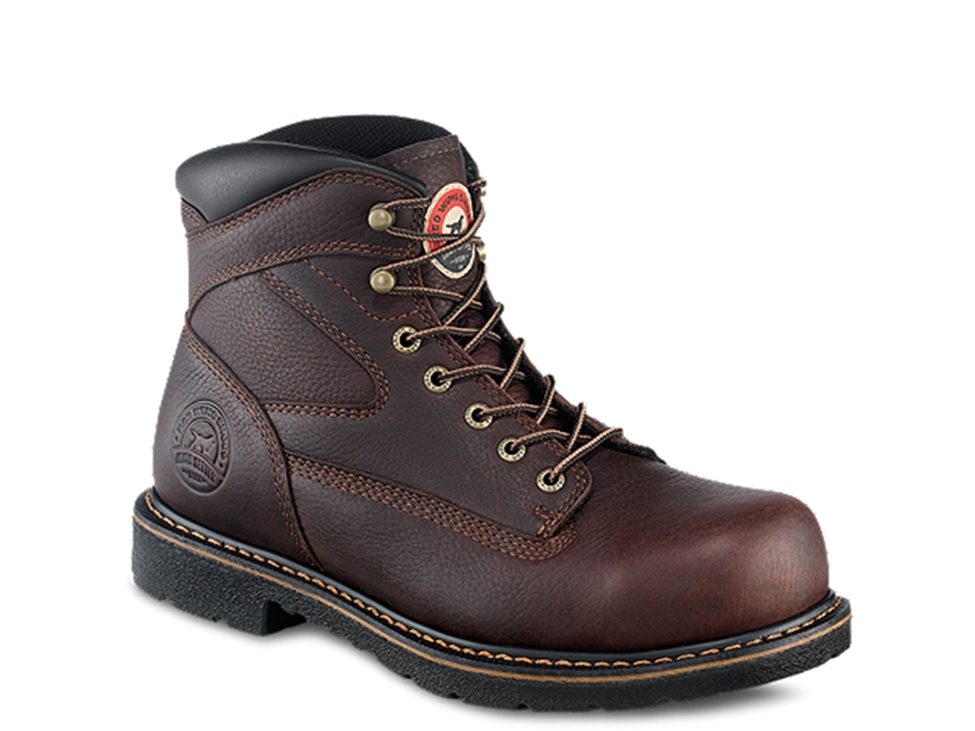 "Irish Setter Farmington 6"" Uninsulated Steel Toe Work Boots Leather Brown Men's"