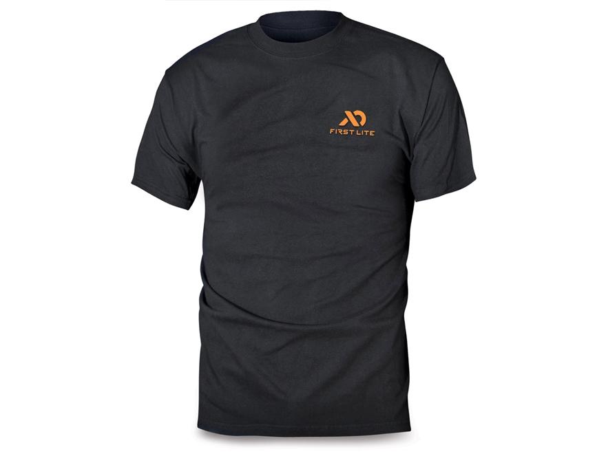 First Lite Men's Logo T-Shirt Short Sleeve Cotton/Poly Blend Black