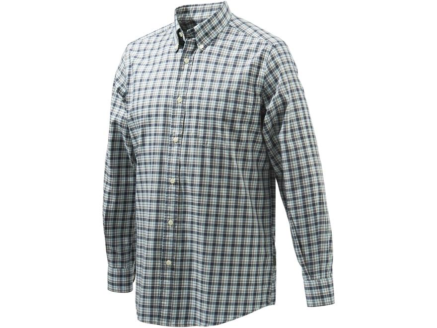 Beretta Men's Classic Button-Up Shirt Long Sleeve Cotton
