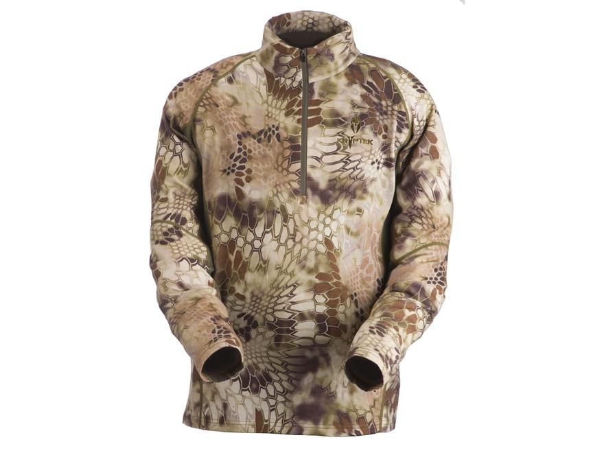 Kryptek Men's Merino Wool Base Layer Shirt Long Sleeve 1/4 Zip Wool