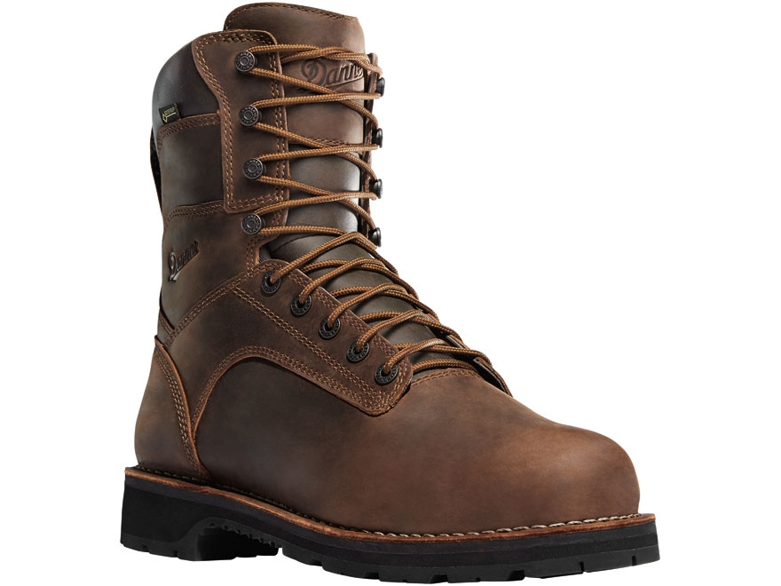 "Danner Workman 8"" Waterproof Aluminum Toe Work Boots Leather Brown Men's"
