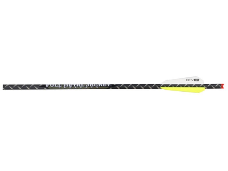 "Easton Full Metal Jacket 22"" Aluminum and Carbon Crossbow Bolt 3"" BT Vanes Half-Moon No..."