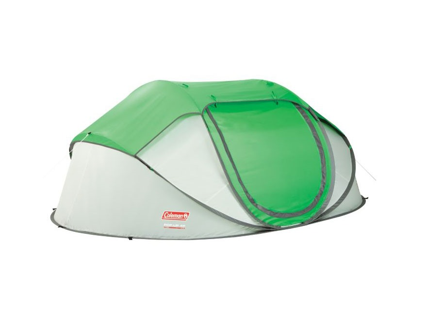 Coleman 4-Person Popup Tent Polyester Green and Silver