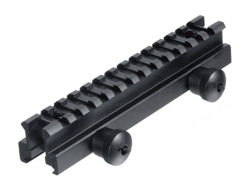 Leapers UTG Deluxe Picatinny-Style See-Thru Riser Mount AR-15 Flat-Top Matte