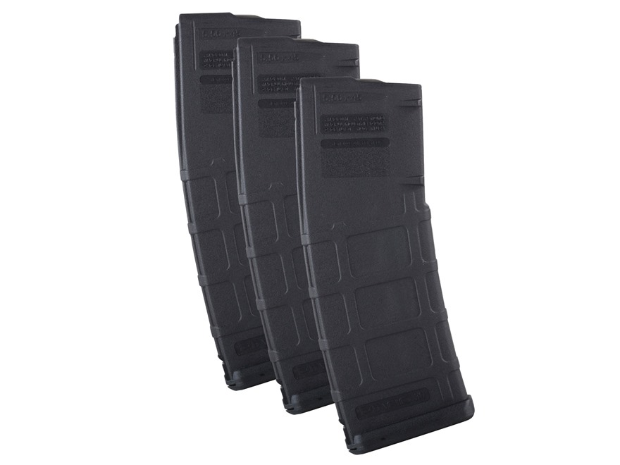Magpul PMAG M2 MOE Magazine AR-15 223 Remington 30-Round Black 3 Pack
