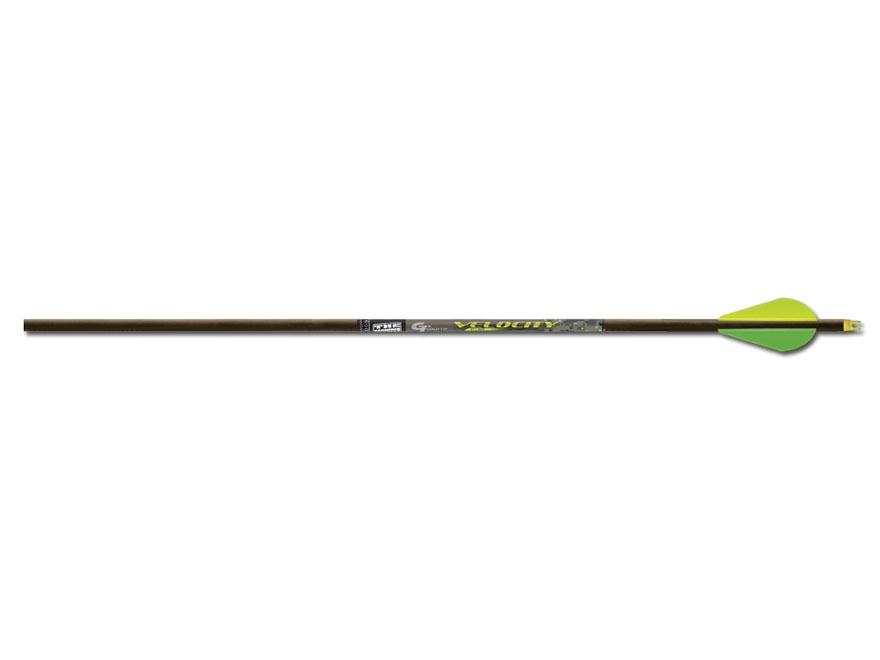 "Gold Tip Velocity XT 340 Carbon Arrow 2"" Vanes Black Pack of 6"