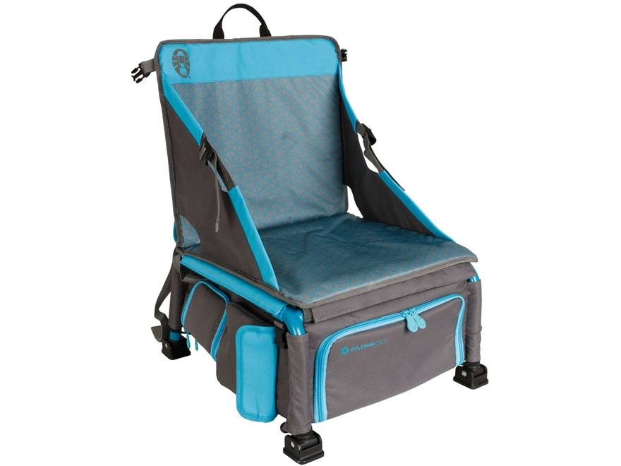 Coleman Treklite Plus Coolerpack Camp Chair Polyester and Steel Gray and Blue