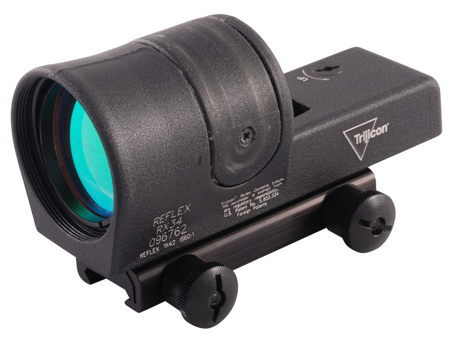 Trijicon RX34A-51 Reflex Sight 1x 42mm 4.5 MOA Dual Illumination Amber Dot with Flat-To...