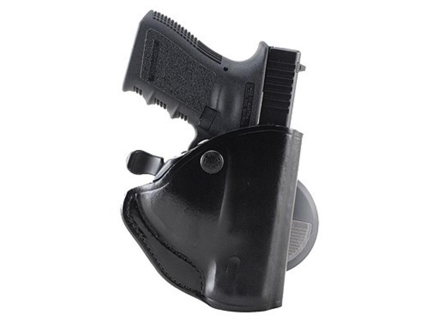 Bianchi 83 PaddleLok Paddle Holster Left Hand Glock 26, 27 Leather Black