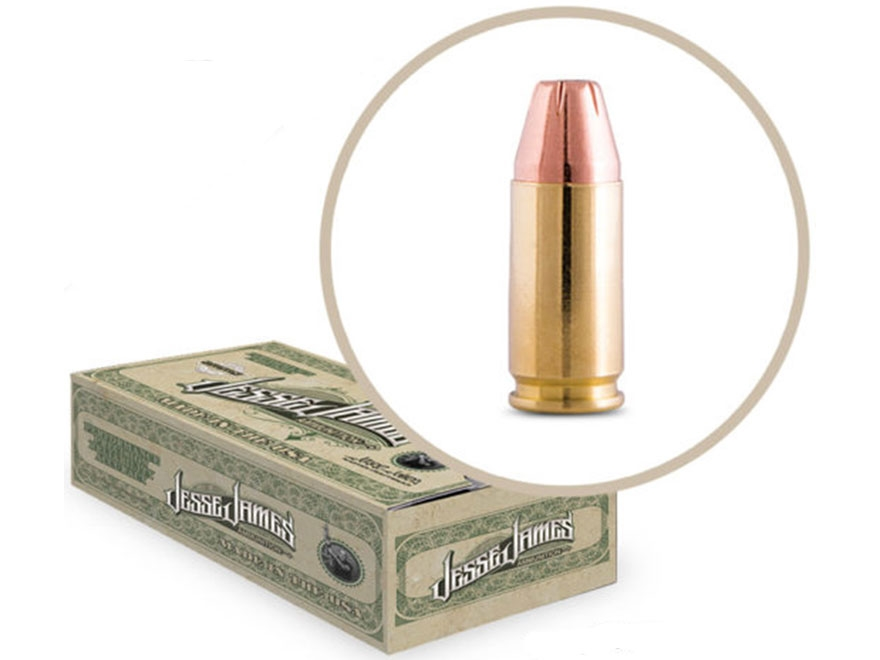 Jesse James TML Ammunition 9mm Luger 115 Grain Jacketed Hollow Point Box of 50