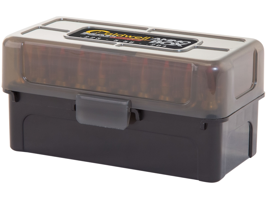 Caldwell AR Mag Charger Flip-Top  Ammo Box 204 Ruger, 223 Remington 50-Round Plastic Bl...