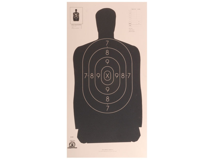 NRA Official Silhouette Targets B-29 50-Foot Paper Pack of 100