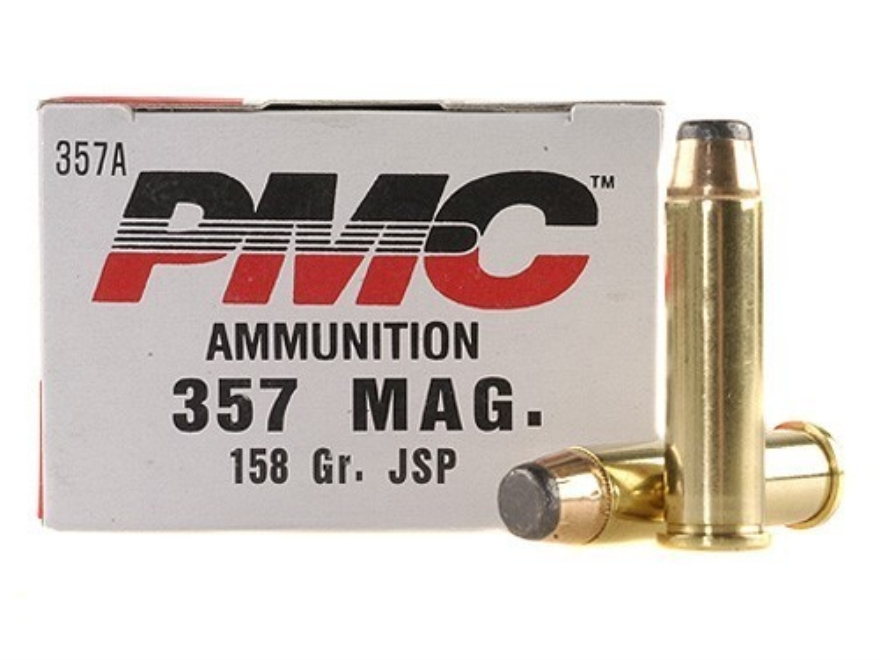 PMC Bronze Ammunition 357 Magnum 158 Grain Jacketed Soft Point Box of 50