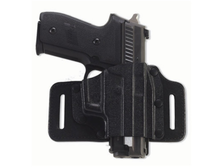 Galco Tac Slide Belt Holster Right Hand Leather and Kydex Black