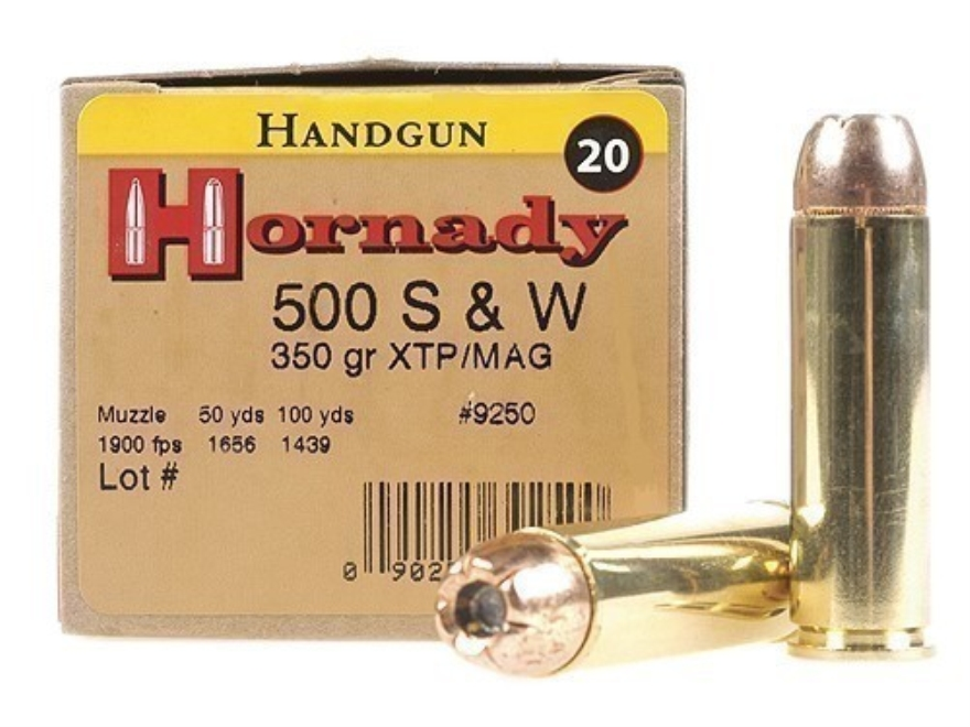Hornady Custom Ammunition 500 S&W Magnum 350 Grain XTP Jacketed Hollow Point Box of 20