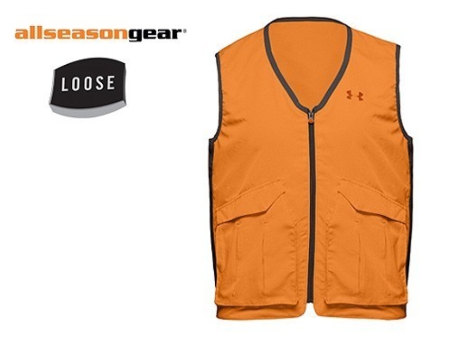 "Under Armour Men's Hunter's Safety Vest Polyester Blaze Orange XL 44""-47"""
