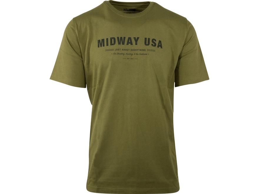MidwayUSA Men's Short Sleeve T-Shirt Cotton Blend JAE
